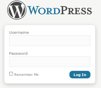 Wordpress login box