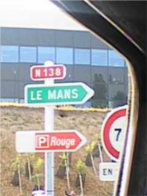 Road sign on the n138