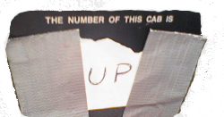 The number of this cab is 'up'