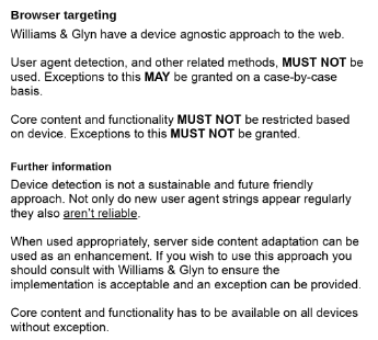 Browser targeting policy