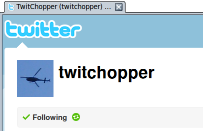 TwitChopper user profile on Twitter
